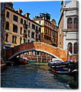 Along The Canals Of Venice Canvas Print