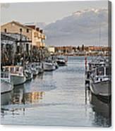 Along The Docks Canvas Print