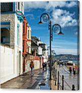 Along The Promenade - Lyme Regis Canvas Print