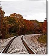 Along The Rails Canvas Print