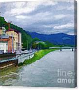 Along The Rhine Canvas Print