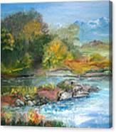 Along The Riverbank Canvas Print
