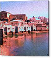 Along The Schuylkill At The Philadelphia Waterworks Canvas Print