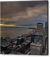 Along The Seattle Waterfront Canvas Print