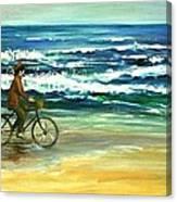 Along The Surf Canvas Print