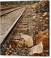 Along The Tracks Canvas Print