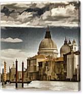 Along The Venice Canal Canvas Print