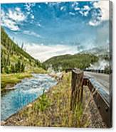Along The Volcanic Yellowstone Road Canvas Print