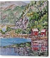 Along_the_coast_of_norway Canvas Print