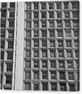 Alot Of Windows In Black And White Canvas Print