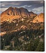 Alpenglow On Brokeoff Mountain Canvas Print