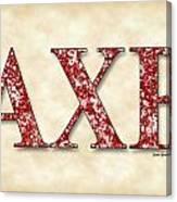 Alpha Chi Rho - Parchment Canvas Print