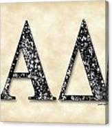 Alpha Delta - Parchment Canvas Print