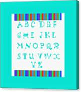 Alphabet Blue Canvas Print
