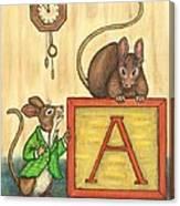 Alphabet Mice Canvas Print