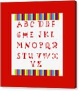 Alphabet Red Canvas Print