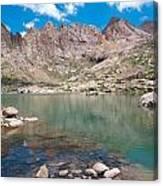 Alpine Lake Beneath Sunlight Peak Canvas Print