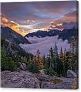 Alpine Lakes Morning Cloudscape Canvas Print