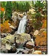 Alpine Torrent Canvas Print