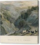 Alps. Shepherd In Germanasca Valley Canvas Print