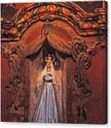Altar And Madonna Canvas Print