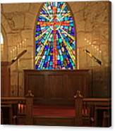 Altar At The Little Church In La Villita Canvas Print