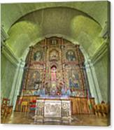 Altar In An Old Chapel Canvas Print
