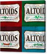 Altoids Collection Scratches Canvas Print