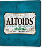 Altoids Wintergreen Scratches Canvas Print