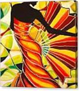 Alysia The Fan Dancer Caye Caulker Belize Canvas Print