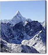 Ama Dablam Mountain Seen From The Summit Of Kala Pathar In The Everest Region Of Nepal Canvas Print