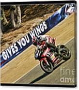 Ama Superbike Cory West Canvas Print