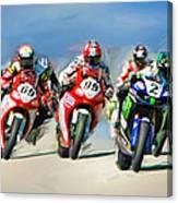 Ama Superbike Grid Canvas Print