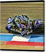 Ama Superbike Josh Jayes From Above Canvas Print