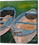Amalfi Boats Canvas Print