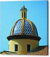 Amalfi Coast Church Italy  Canvas Print