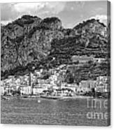 Amalfi Coast Monochrome Canvas Print