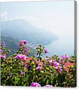 Amalfi Coast View From Ravello Italy  Canvas Print