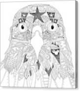 Amarican Eagle Black White Canvas Print