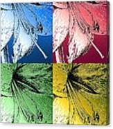 Amaryllis Pop Art Canvas Print