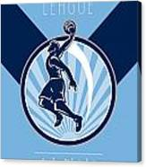 Amateur Basketball League Retro Poster Canvas Print
