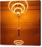Amazing Antique Chandelier - Grand Central Station New York Canvas Print