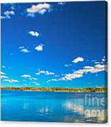 Amazing Clear Lake Under Blue Sunny Sky Canvas Print