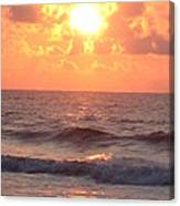Amazing Golden Lavender South Carolina Sunrise Canvas Print