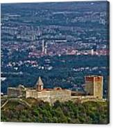 Amazing Medvedgrad Castle And Croatian Capital Zagreb Canvas Print