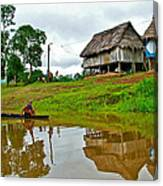 Amazon River Reflections-peru  Canvas Print