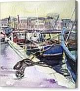 Amber Evening Canvas Print