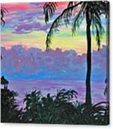Ambergris Caye Sky Belize Canvas Print