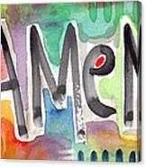 Amen Greeting Card Canvas Print