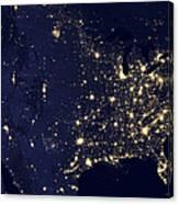 America At Night Canvas Print